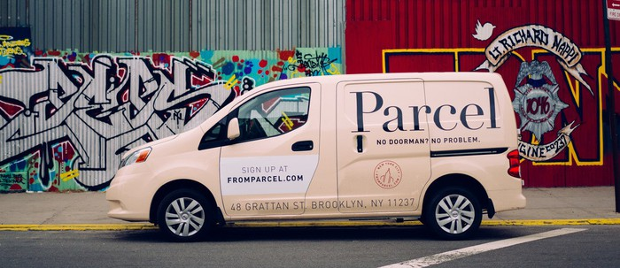 Small delivery van from New York-based Parcel.
