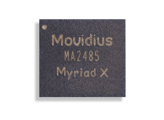 The Movidius Myriad X chip.