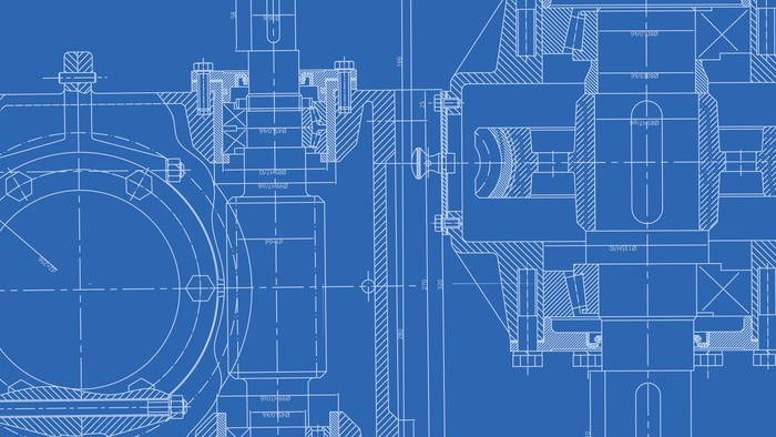 an enginnering design drawing