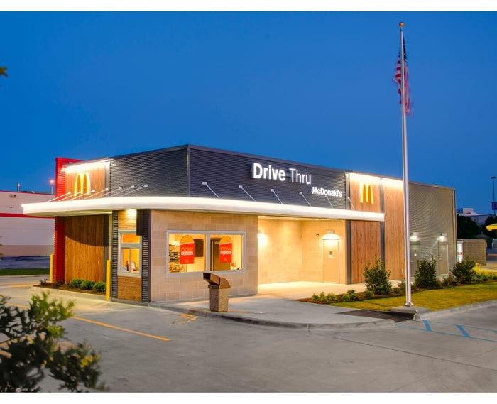 McDonald's drive-through in Denton, Texas