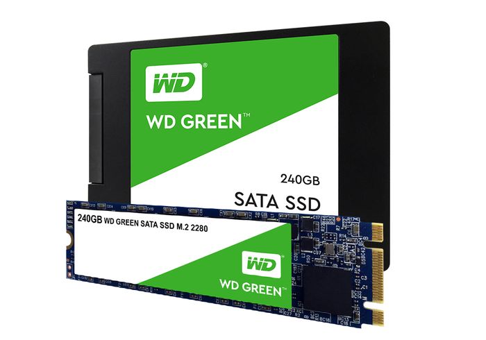Western Digital Green solid-state hardware.