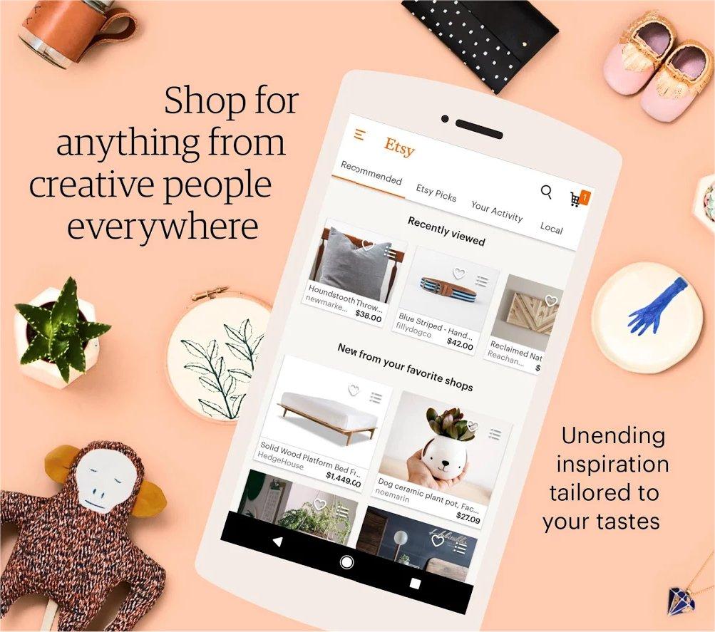 Etsy's mobile app.