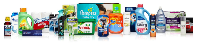 A picture of P&G's most popular products.