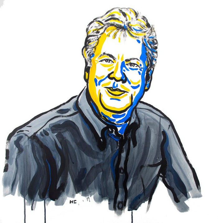 Richard Thaler drawn illustration for Nobel Prize.