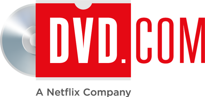 DVD.com logo, including A Netflix Company as a tagline.