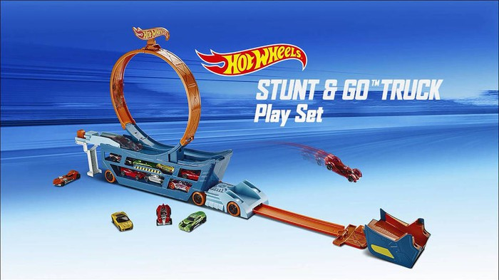 Hot Wheels Stunt and Go Truck play set.
