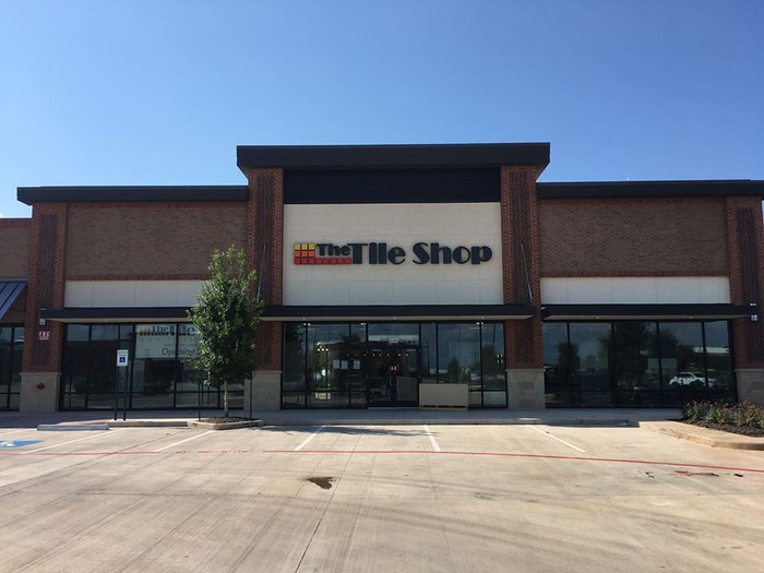 Exterior of a new Tile Shop store in Sugar Land.