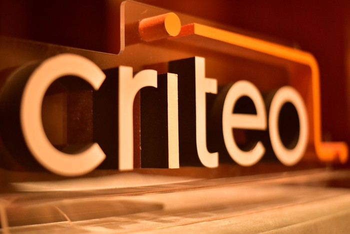 Criteo 3-D logo angled away from the viewer