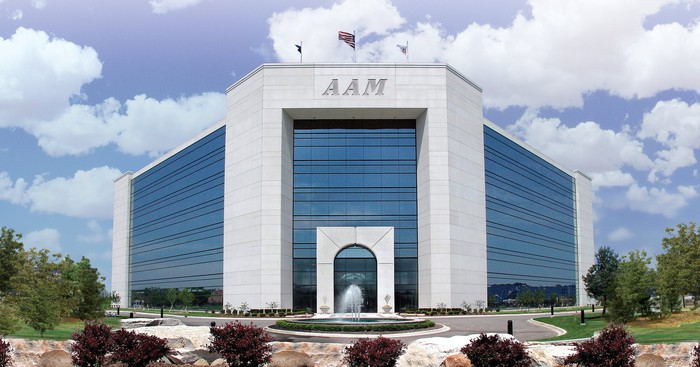 American Axle and Manufacturing's headquarters in Detroit, Michigan.