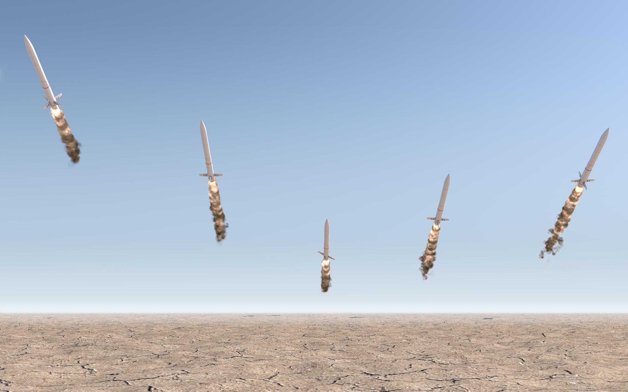 ICBMs in flight