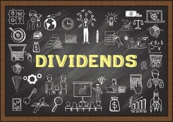 dividends blackboard sketch doodle