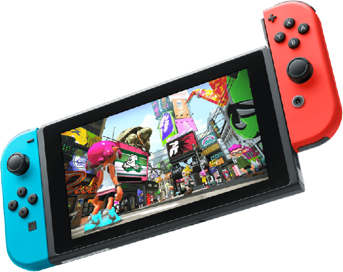 The Nintendo Switch game console.