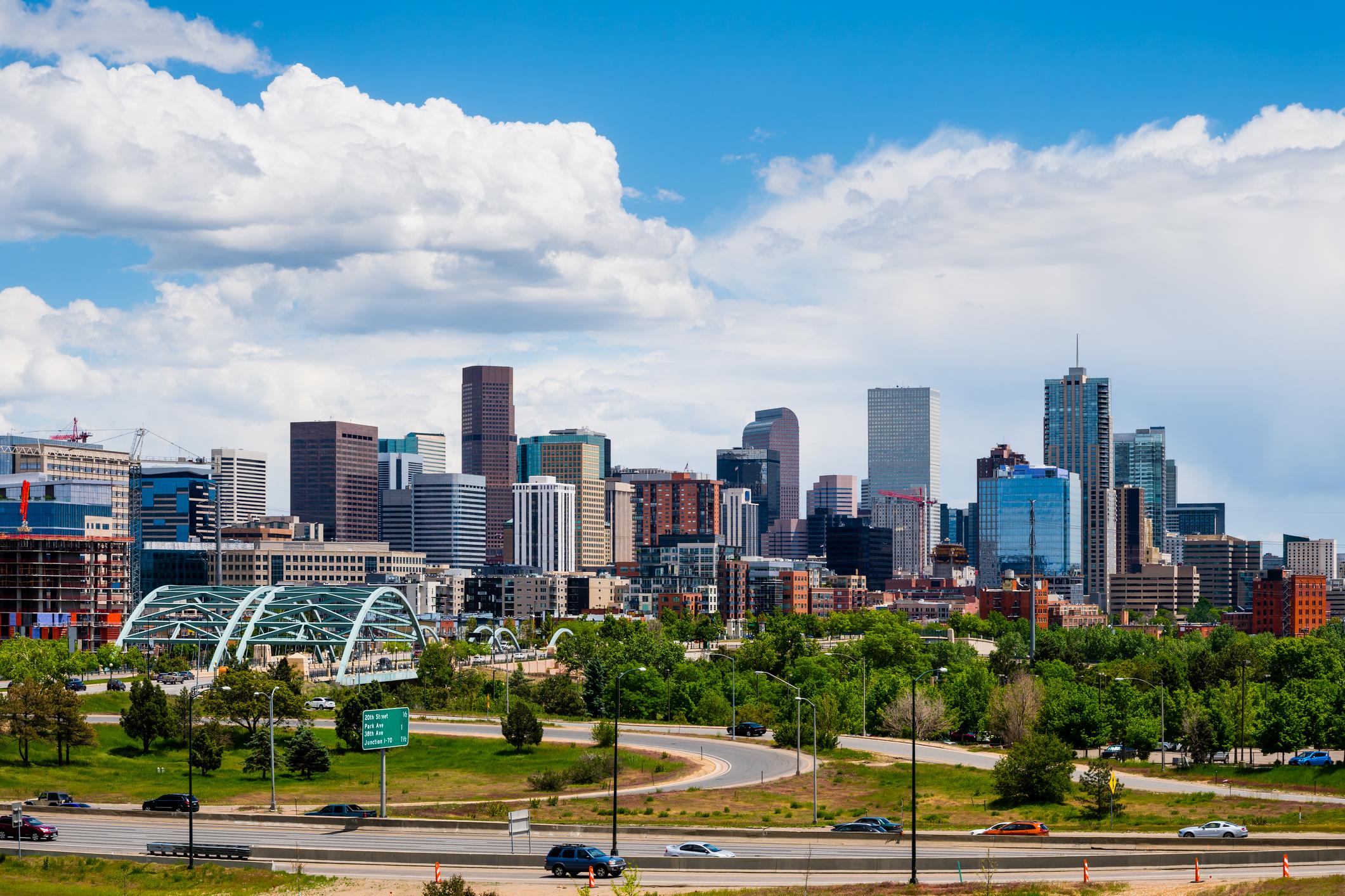 The Denver, Colorado skyline.