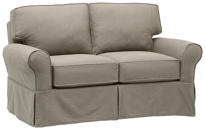 A love seat from Amazon's Stone & Beam line.