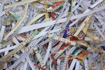 Scraps of shredded paper.