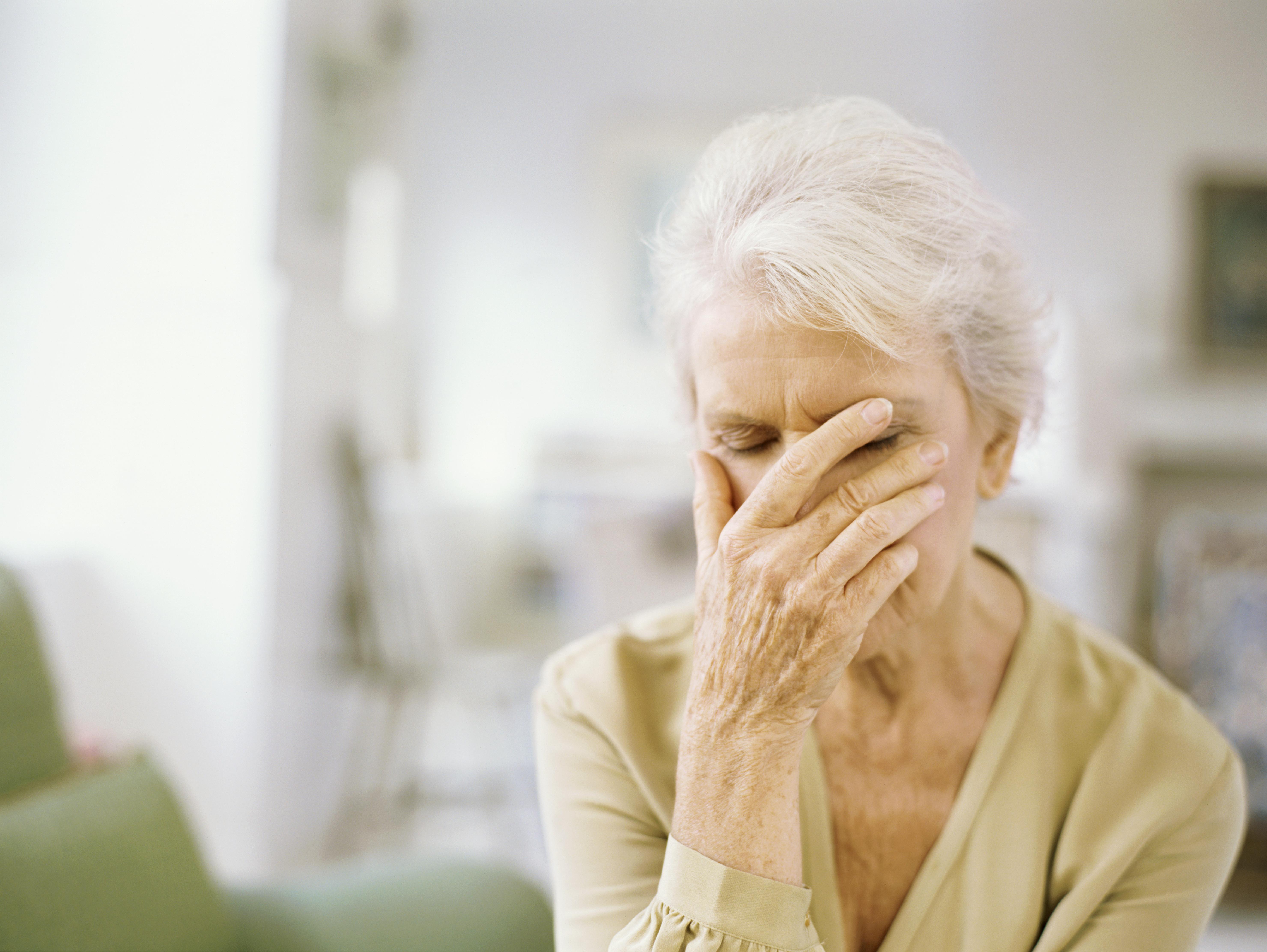 Senior woman regretting a mistake