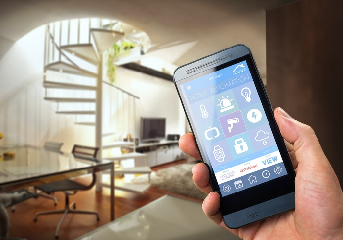 Home security automation from a smartphone