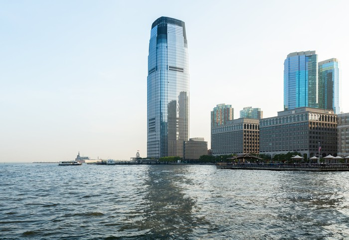 :Goldman Sachs Tower at Exchange Place in Jersey City, New Jersey.