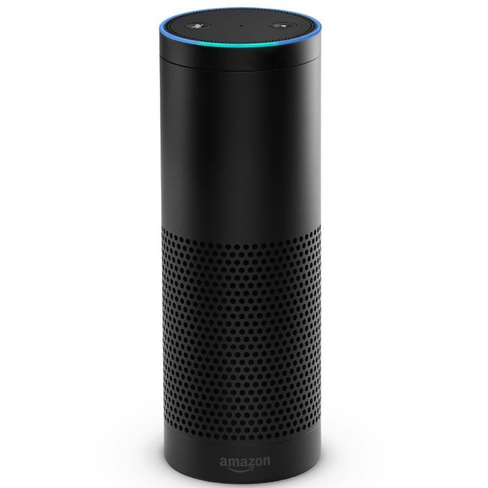The Amazon Echo device.