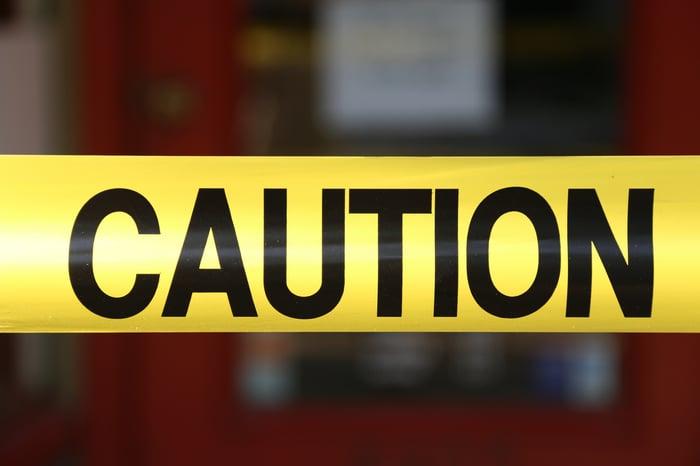 A caution tape.