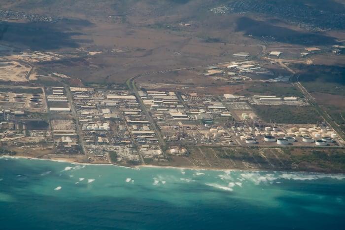 An oil refinery in Hawaii.
