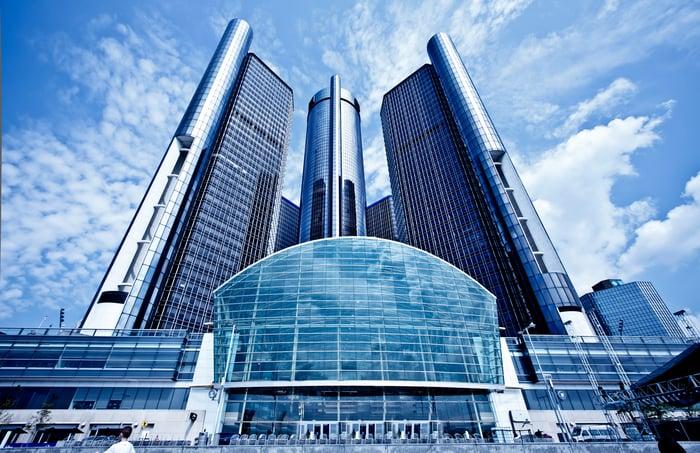 Downtown Detroit GM Headquarters.