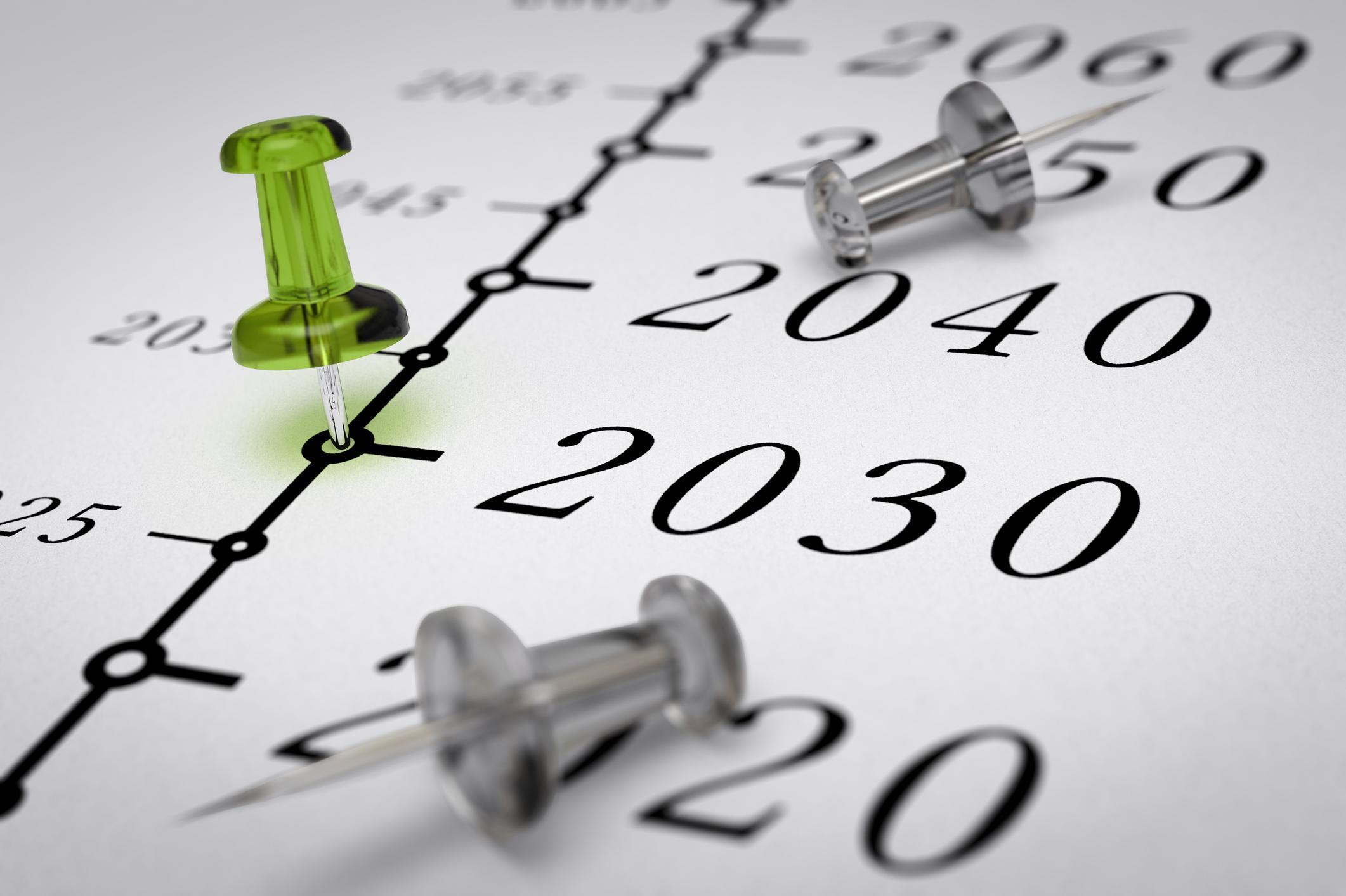 2030 pinned on timeline