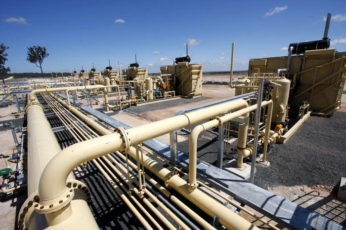 Gas compression equipment.