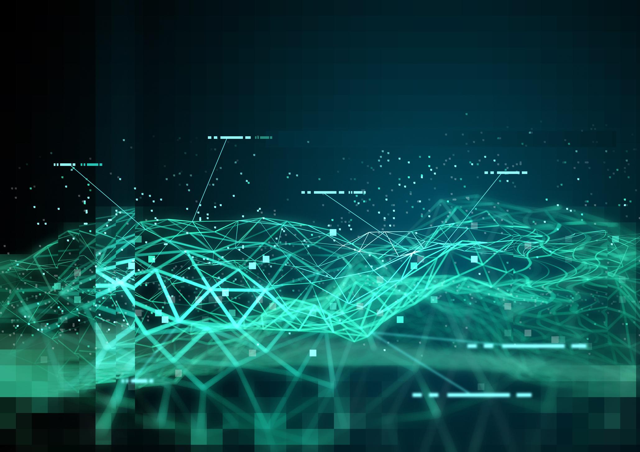 Abstract illustration of data mining
