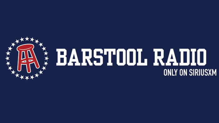 Barstool Radio on Sirius XM graphic with the signature barstool logo.