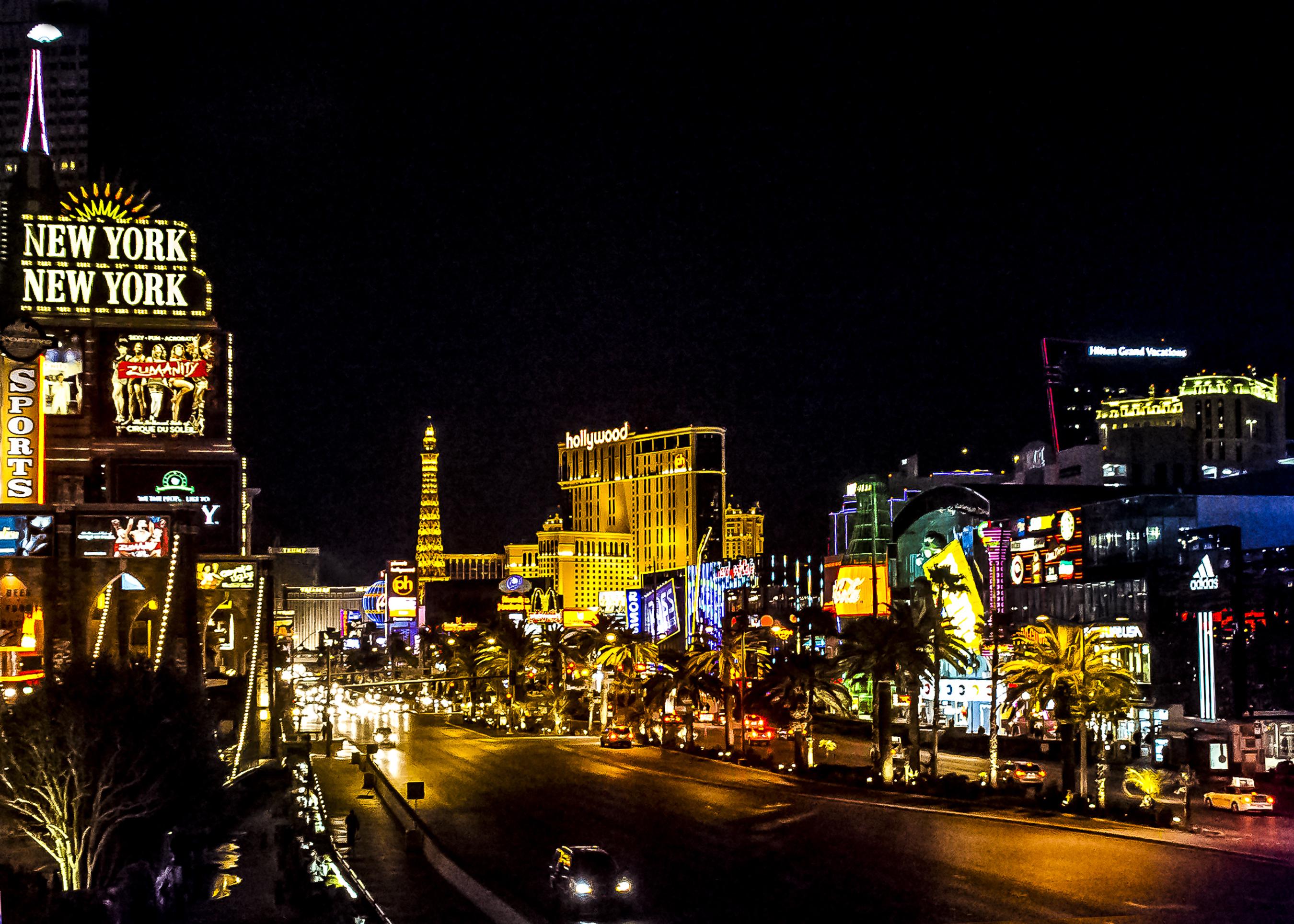 Night view of the Las Vegas Strip