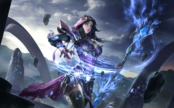 Drawing of a fantasy character from NetEase's Crusaders of Light