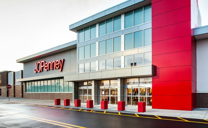 The exterior of a JCPenney.