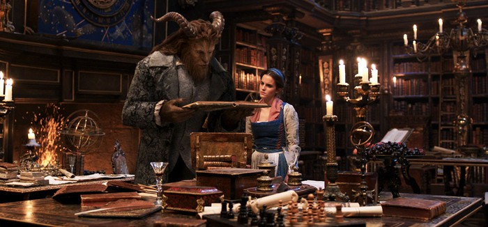 A still from the Beauty and the Beast live-action film