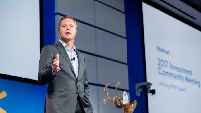 CEO Doug McMillon presents at this year's Investor Conference.