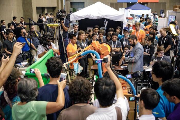 Photo of Amazon's Robotics Challenge
