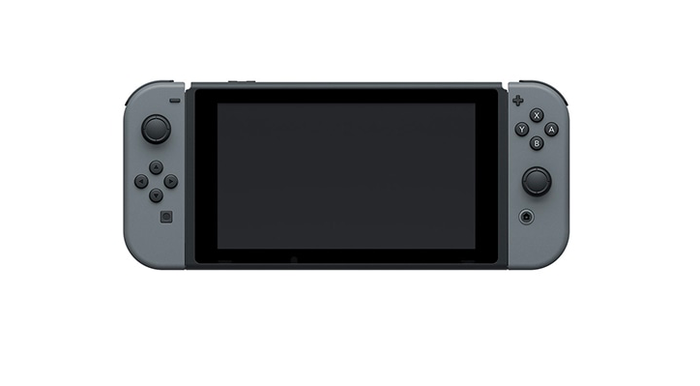 Nintendo Switch in its portable mode.