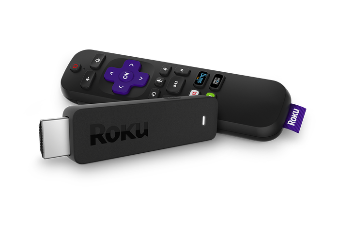 Image of Roku Streaming Stick+ next to its remote.