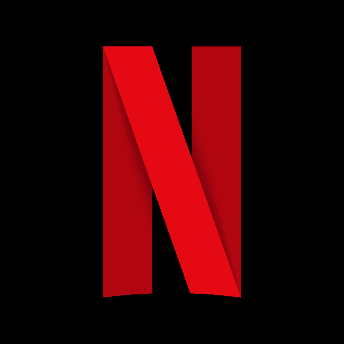 Big red N standing for NEtflix against a black background