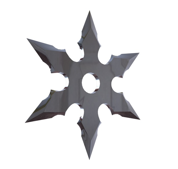 A throwing star