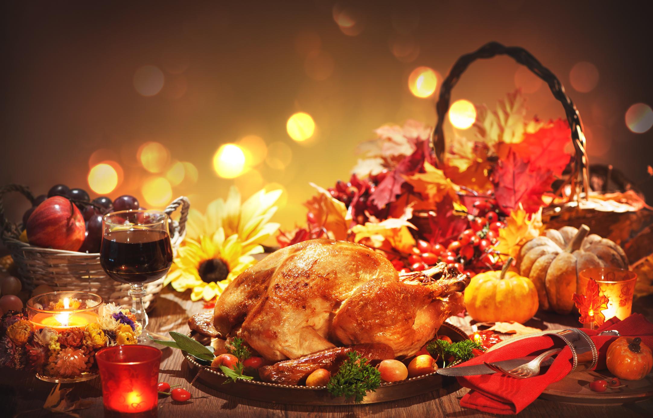 Thanksgiving food display