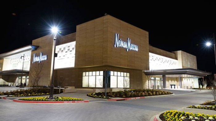 The exterior of a new Neiman Marcus store