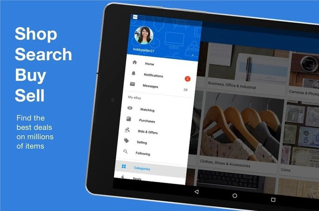 eBay's mobile app.
