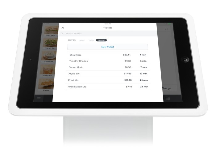 Square's open tab feature for merchants.