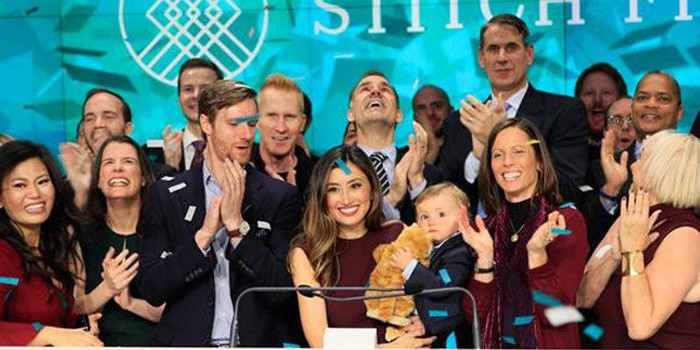 Stitch Fix Founder Katrina Lake and others gathered in celebration.