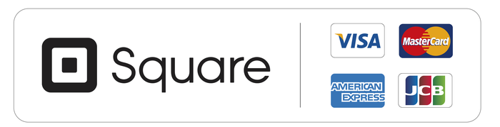 Square logo with the card networks with which it's affiliated.