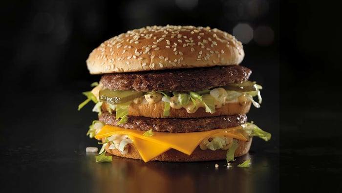 McDonald's Grand Mac burger.