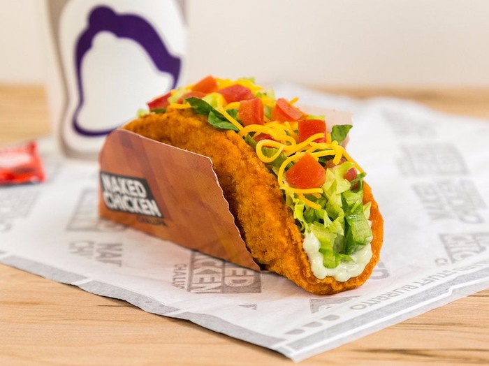 Taco Bell's Naked Chicken Chalupa sandwich.
