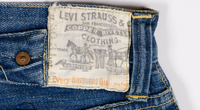 Levi Strauss denim jeans label