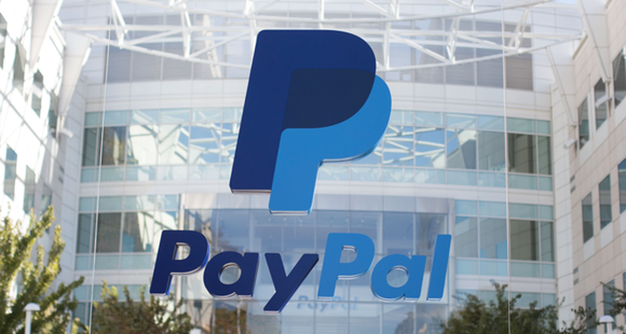 A view of the outside of PayPal's headquarters